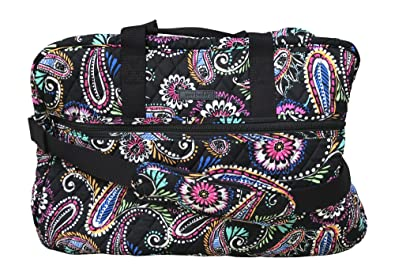 Amazon.com  Vera Bradley Grand Traveler Bag (Bandana Swirl)  Clothing 7ced60cde6