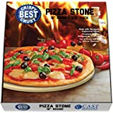 Pizza Stone Best Crispy Crust Pizza, The Only Stoneware Thermarite (Engineered Tuff Cordierite). Durable, Certified Safe, Ovens & Grills 16 Round, Bonus Recipe Ebook & Free Scraper
