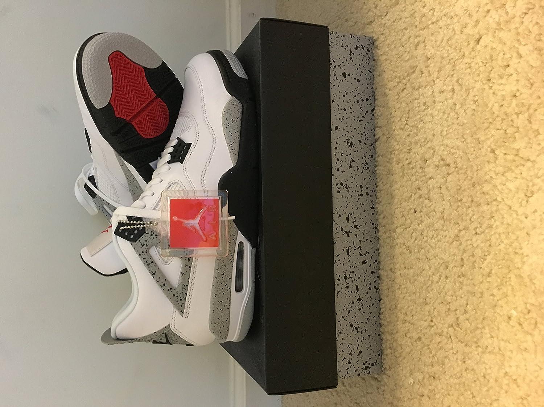 Air Jordan 4 Retrò Og Bianco / Rosso Fuoco / Tech Grigio hvu5ehR