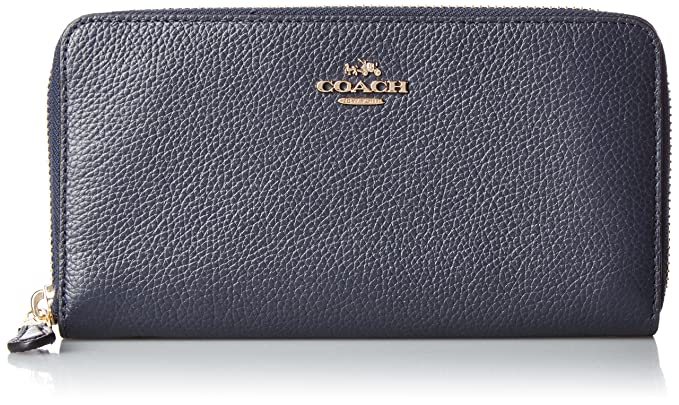 Coach - Accordion Zip - Monedero - Navy: Amazon.es: Zapatos ...
