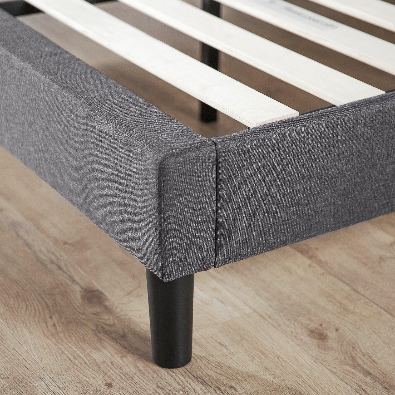 Zinus Essential Upholstered Platform Bed Frame Mattress