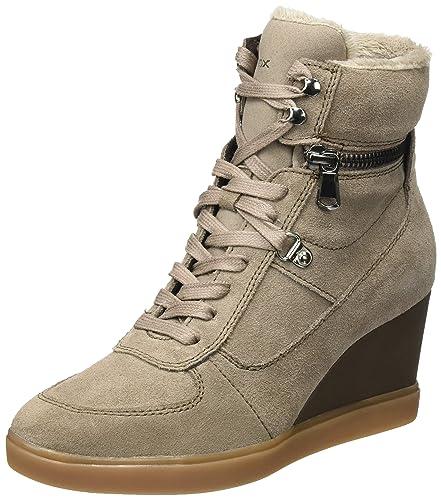 e112febbc0 Geox Women's D Eleni B Hi-Top Sneakers: Amazon.co.uk: Shoes & Bags