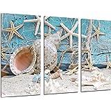 Quadro moderno fotografico Paesaggio Mare Vintage, Conchiglie, Conchiglie, Spiaggia, sabbia, 97x 62cm, rif. 26479