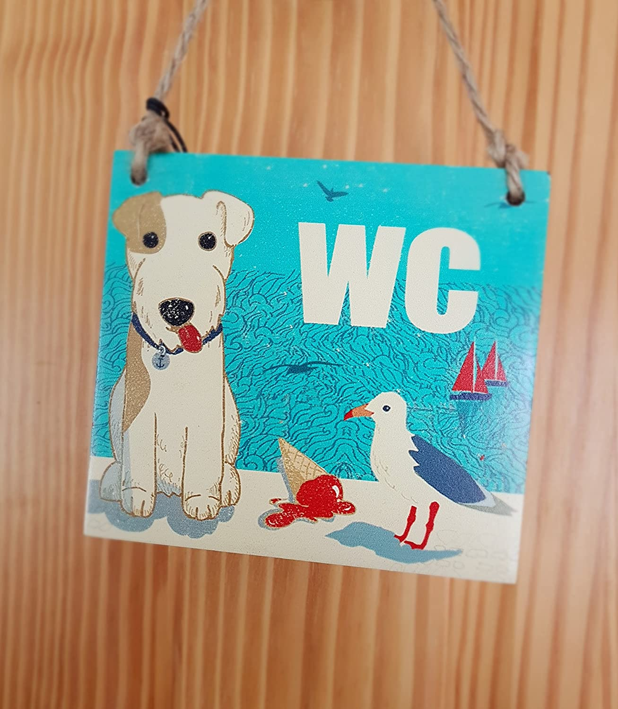 Cartel Vintage Retro Estilo WC para inodoro o baño, playa y ...