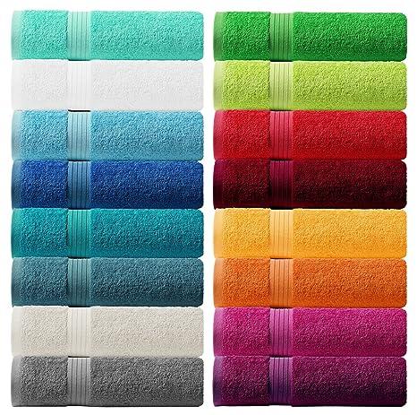 Lashuma Toalla – Rizo Serie Linz – En 16 Colores y 6 tamaños a Elegir:
