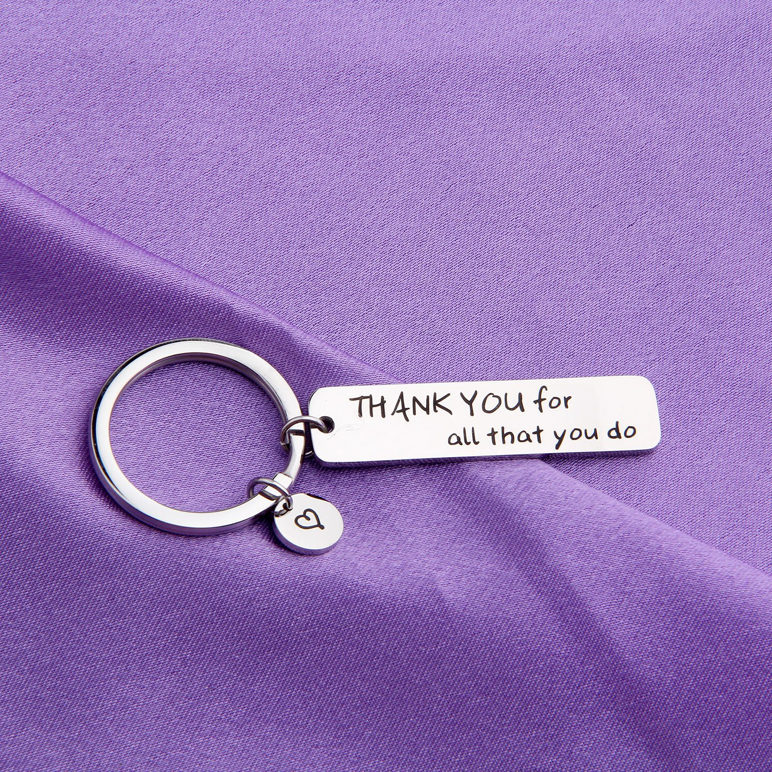 MAOFAED Appreciation Gift Thank You For All That You Do Cuff Bracelet Thank You Gift for Nurse Teacher Coach Employee (Thank you Keychain) by MAOFAED (Image #5)