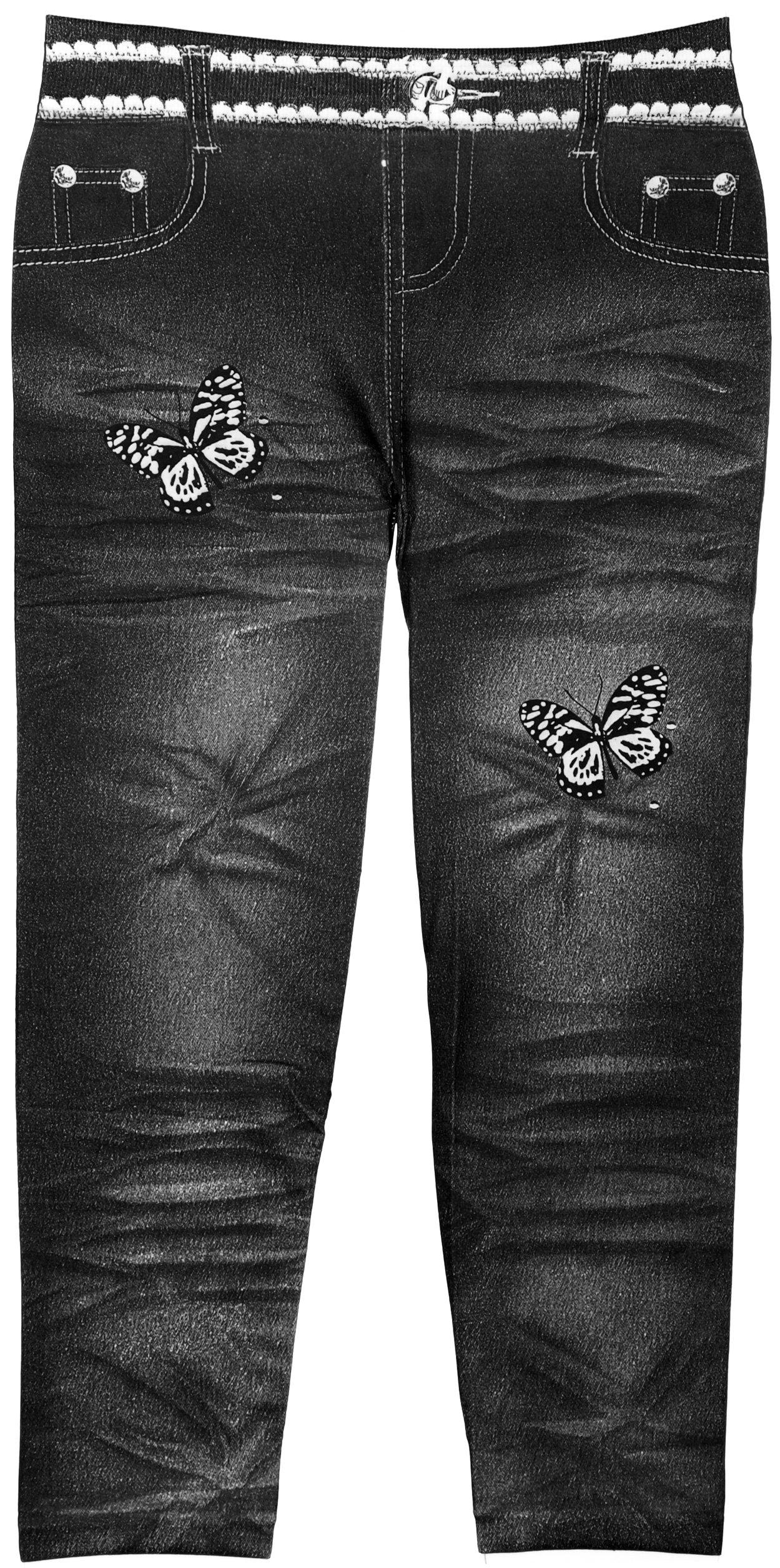 Girls Fashion Leggings with Vivid Colors & Fun Patterns in 3 Sizes (7-16, 27572 Black)