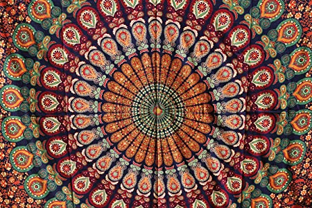 Future Handmade Large Tapestries Indian Handmade Printed Tapestry Tie Dye Tapestry Room Decoration Popular Printed Bed Sheet Wall Hanging Beach Blanket Bohemian Tapestries Decor Bedspread