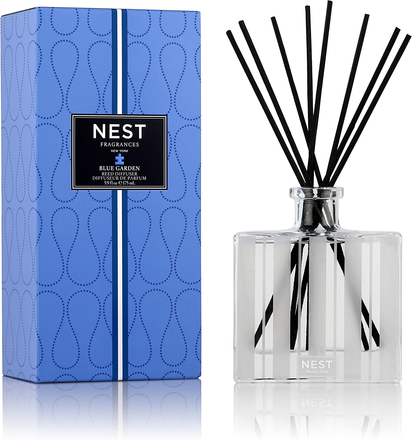 NEST Fragrances NEST08-BG Reed Diffuser- Blue Garden , 5.9 fl oz