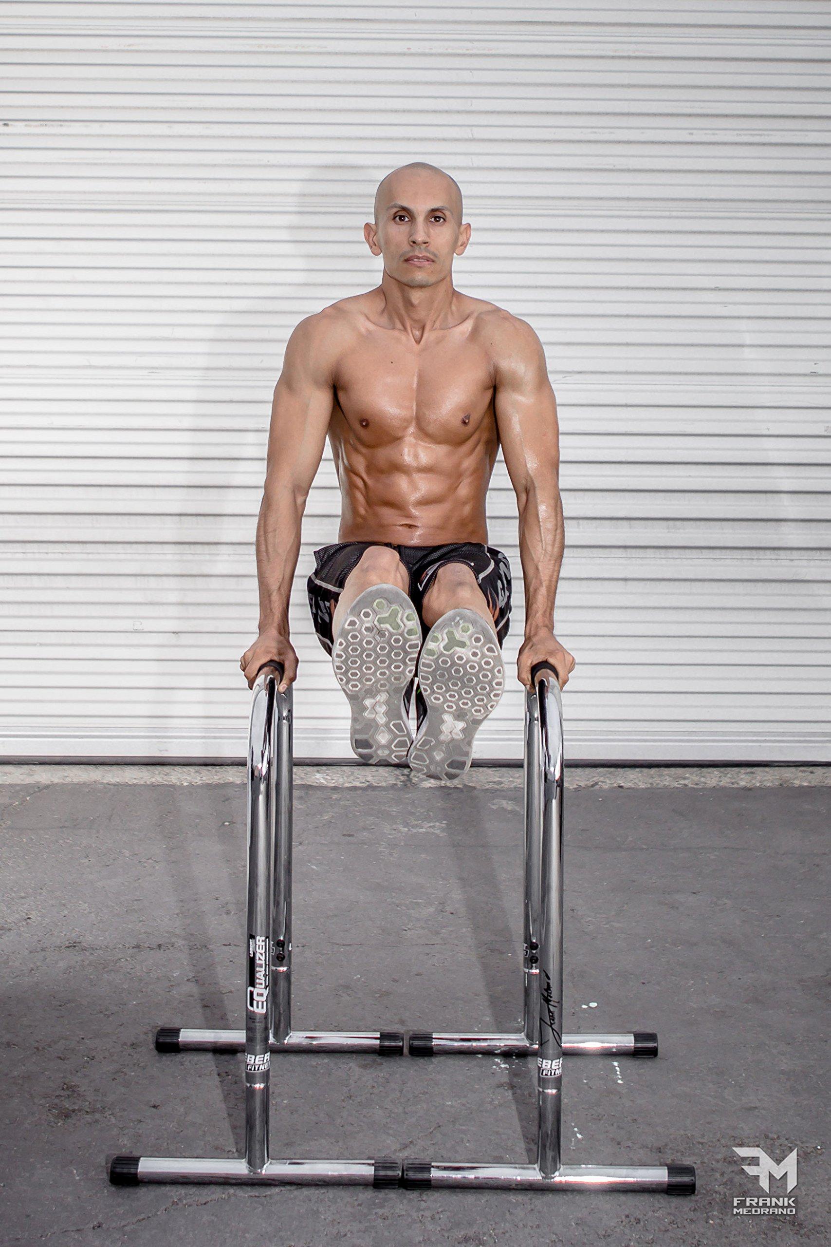 Lebert Fitness Equalizer Bars Total Body Strengthener, XL, Frank Medrano Signature, Chrome by Lebert (Image #6)