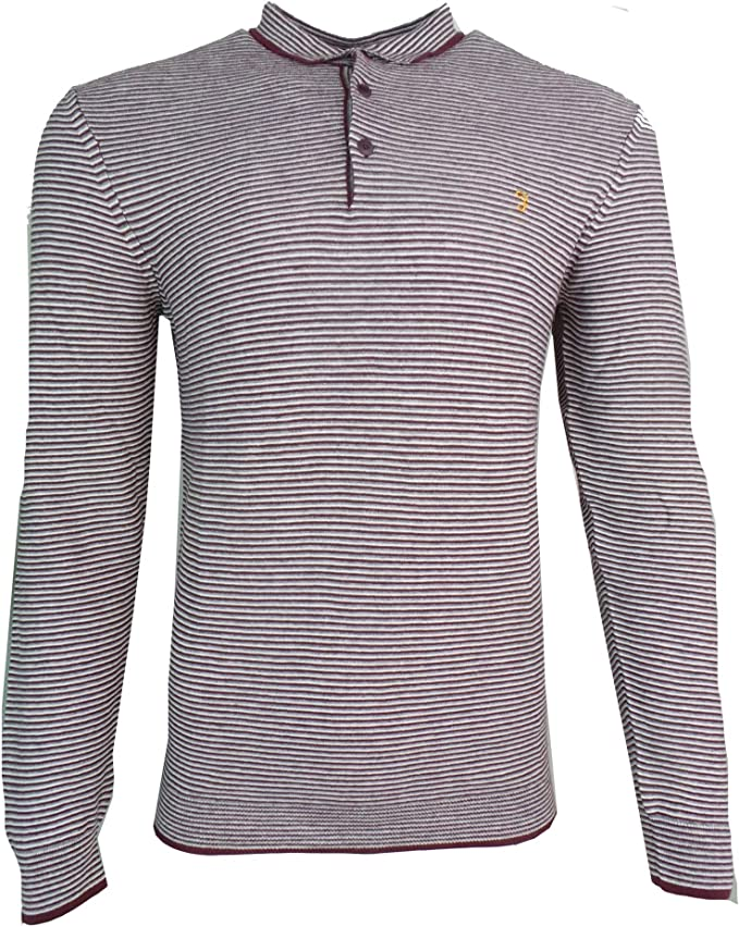 YUNY Mens Long-Sleeve Crew Neck Pullover Solid Soft Blouse T-Shirt Tops Red S