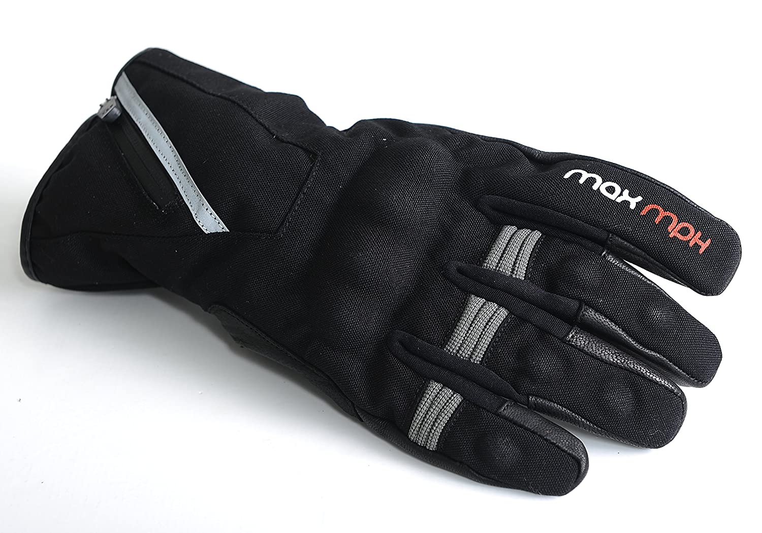 MAX MPH ROADPRO Textile Waterproof Motorcycle Gloves X-Large