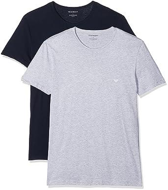 15da52f45a900 Emporio Armani Herren 2Pack Rundhals T-Shirts 111647 CC722 Vorteilspack:  Amazon.de: Bekleidung
