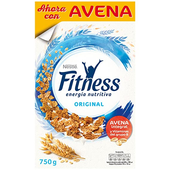 Fitness Copos de trigo integral y arroz tostados - 750 gr