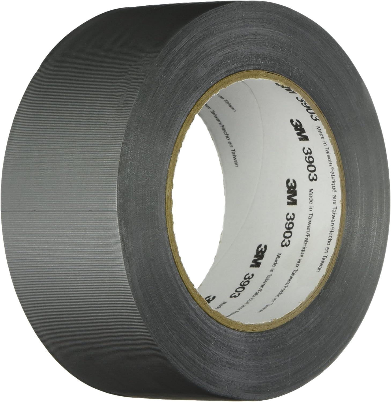 3M Black Vinyl//Rubber Adhesive Duct Tape 3903 50 yd Length 9-50-3903-BLACK 12.6 psi Tensile Strength 9 Width