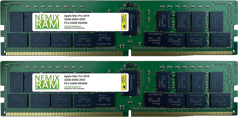 64GB 2x32GB DDR4-2933Mhz PC4-23400 288-Pin RDIMM Memory for Apple Mac Pro 2019 7,1 by NEMIX RAM