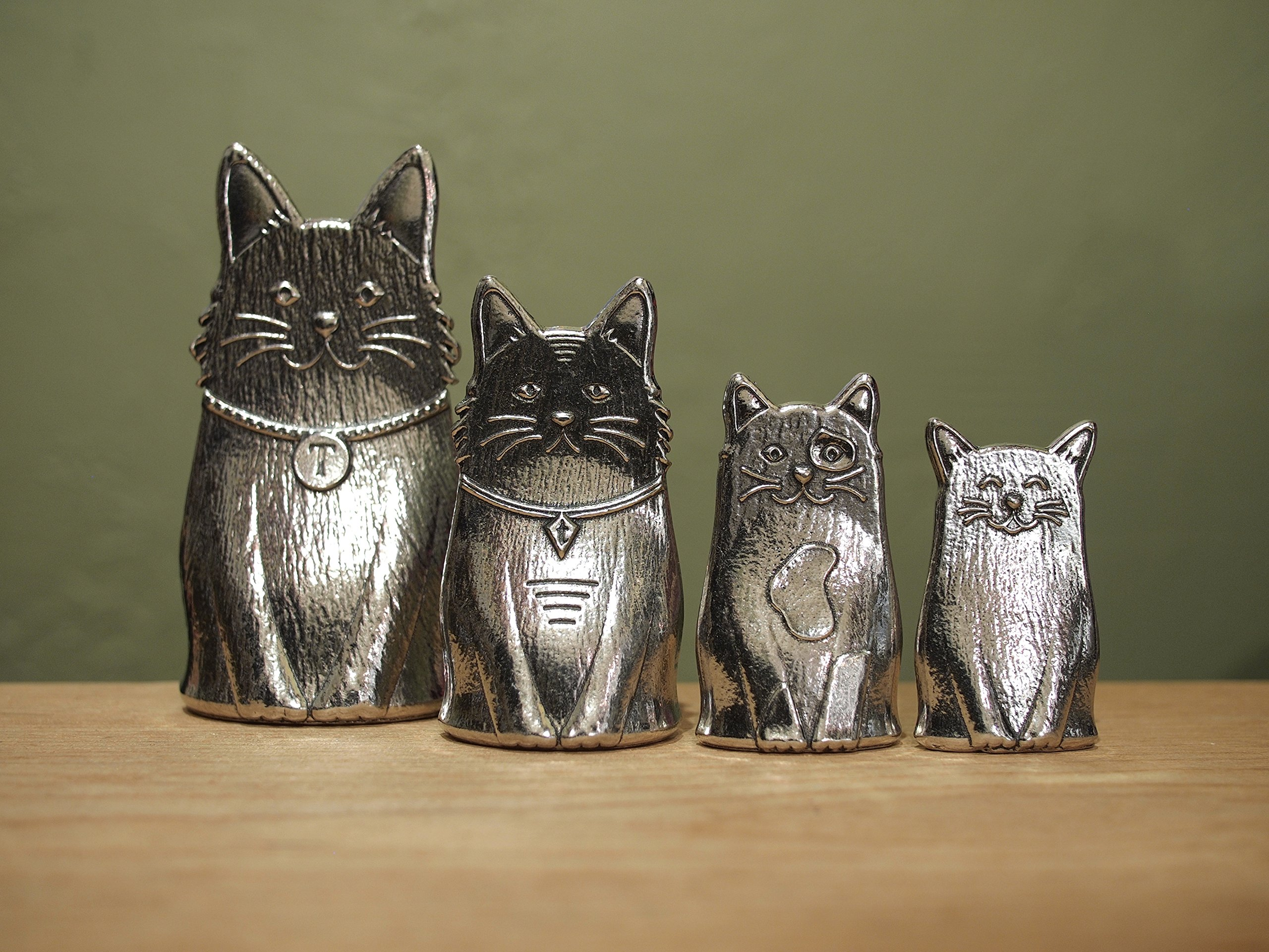 Family of Cats Pewter Measuring Spoons by Roosfoos