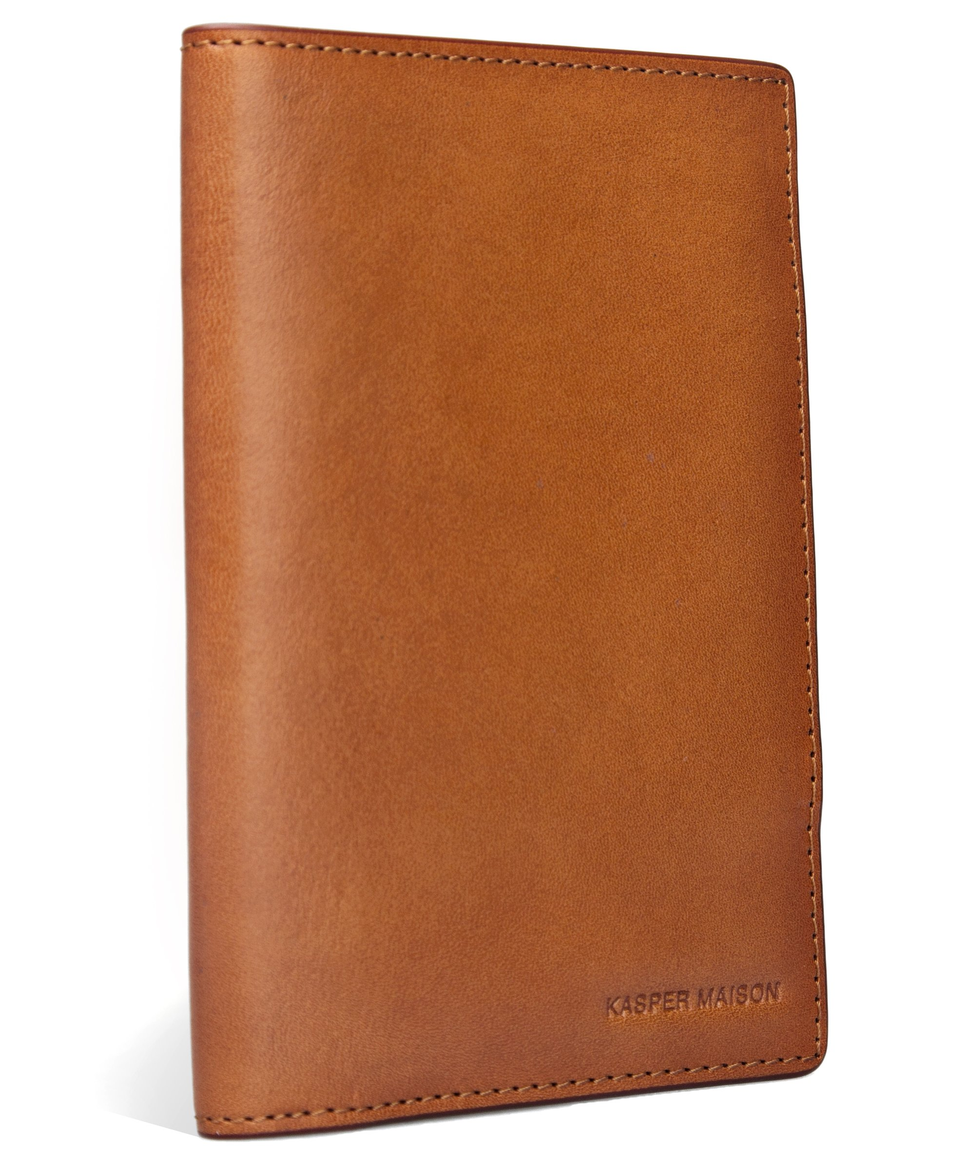 Kasper Maison Italian Leather Passport Holder - Travel Document Case with anti theft RFID Blocking - Signature Gift included by Kasper Maison