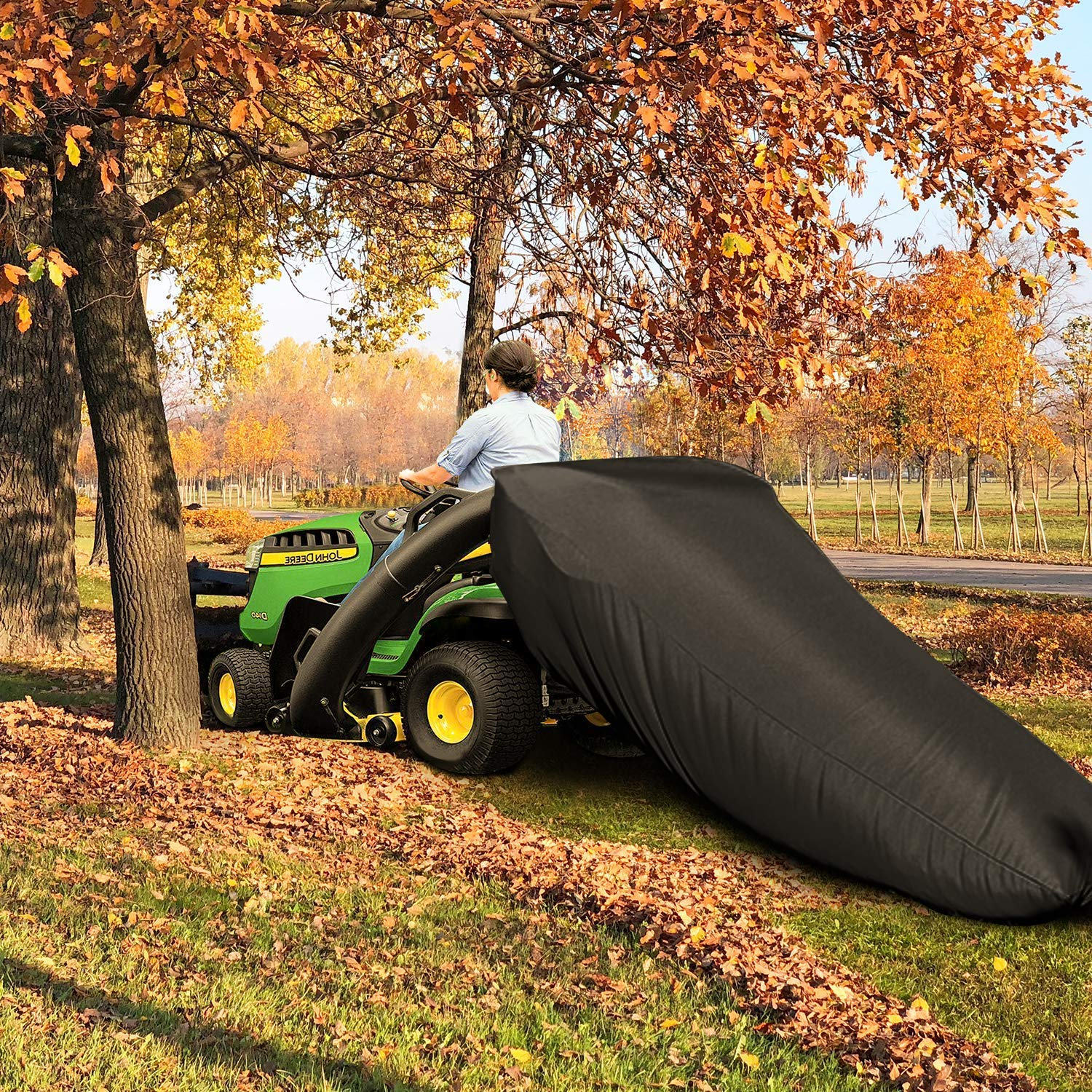 Lifesmells Lawn Tractor Leaf Bag,Lawn Sweeper Tow Behind,Reusable Collecting Leaves Waste Bag,Mower Leaf Bag,Fit for Cub Cadet XT1 LT42, XT1 LT46, XT2 LX42, XT2 LX46,54 Cubic Feet Black