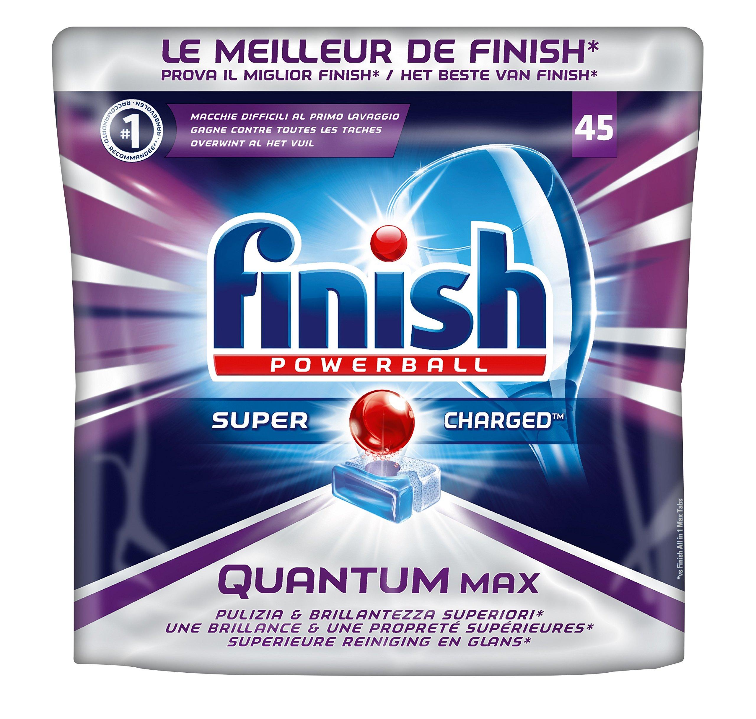 FINISH® Finish a5m Paquet DE 45 tablettes pour Lave-Vaisselle - powerball Quantum product image