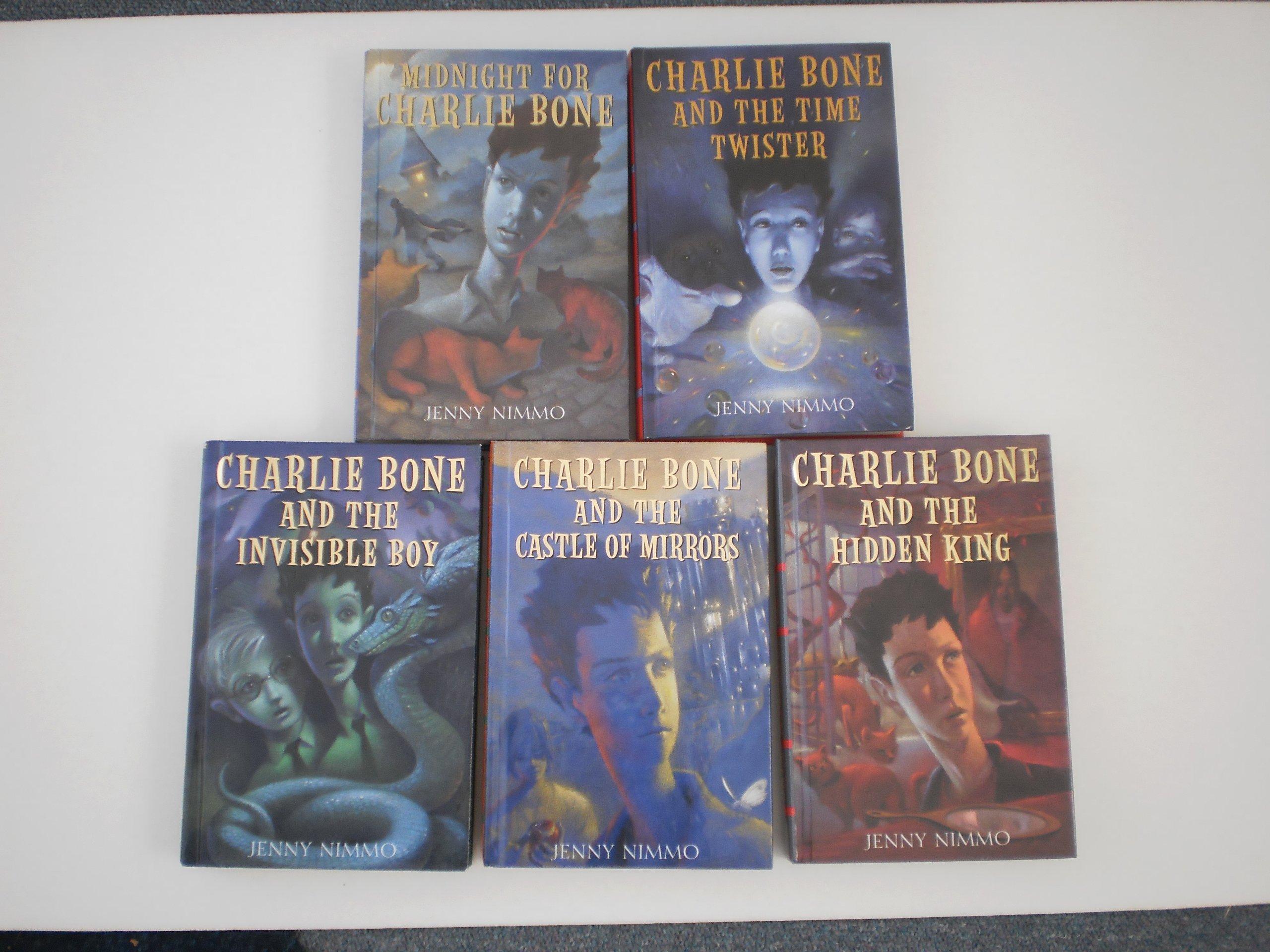 Charlie Bone Set: Books 15 (midnight For Charlie Bone, Charlie Bone And  The Time Twister, Charlie Bone And The Blue Boa, Charlie Bone And The  Castle Of