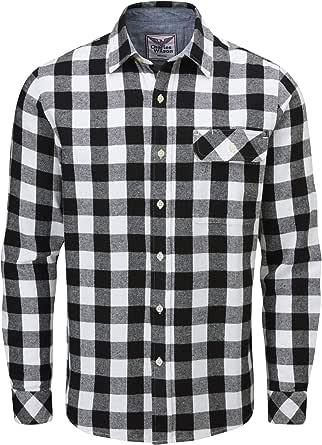 Charles Wilson Camisa Franela de Cuadros Manga Larga para Hombre