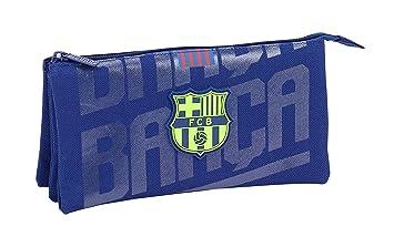 FC Barcelona Estuche portatodo Triple Escolar.