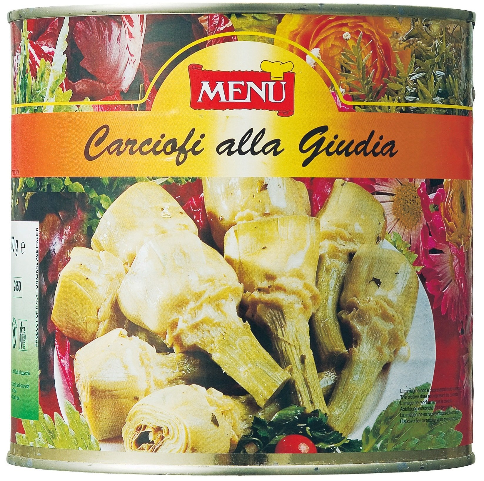 Whole Artichokes with Stems, Marinated in Oil with Herbs - 1 can - 5.6 lbs