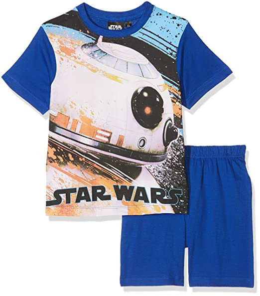 Star Wars Official Licensed ER2110 Kids Pajamas (4 Years, Blue)