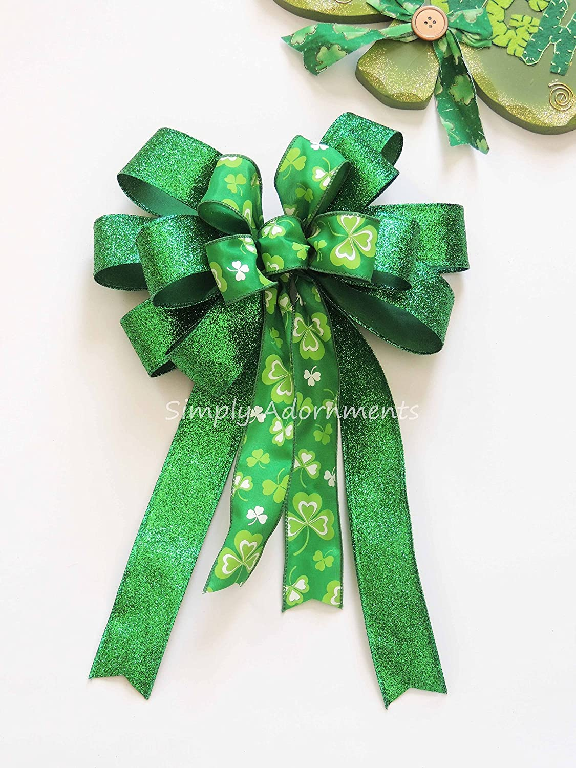 New Glitter Christmas Bow Wreath Wrap Wedding Wired Ribbon Party Home Decor Tool