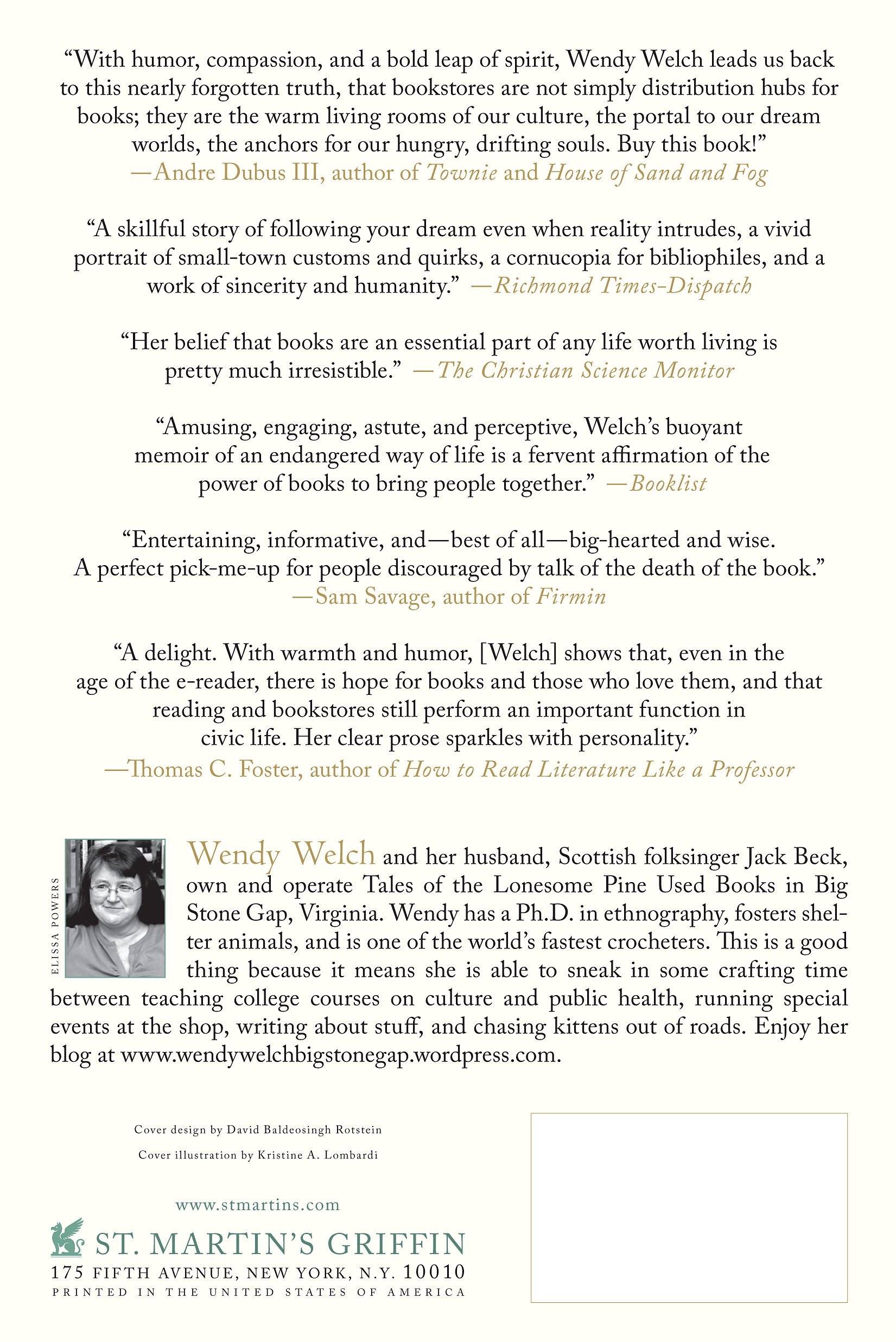 The Little Bookstore Of Big Stone Gap: A Memoir Of Friendship,munity,  And The Uncommon Pleasure Of A Good Book: Wendy Welch: 9781250031617:  Amazon: