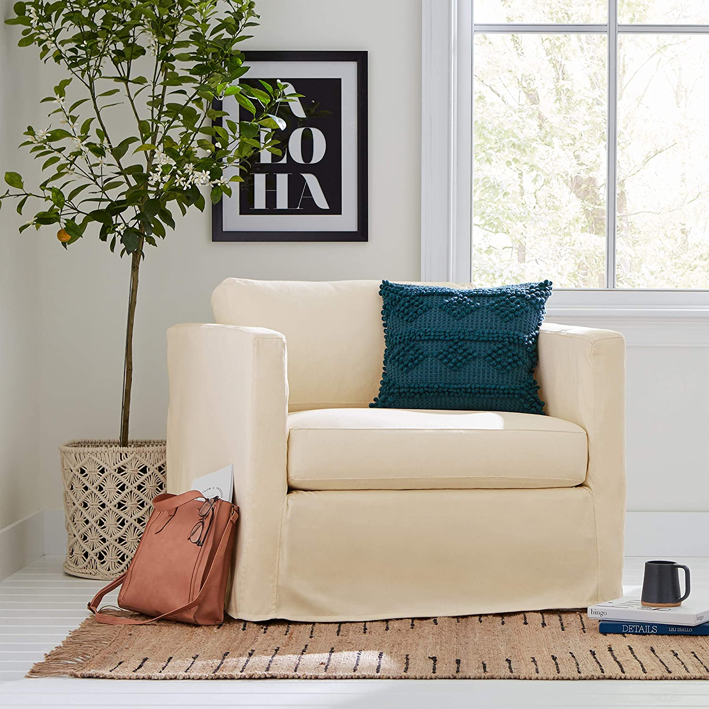 Amazon Brand – Stone & Beam Modern Jute Area Rug, 3 x 5 Foot, Natural Multicolor