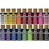 FolkArt 亚克力颜料套装(18 种颜色,2盎司瓶装) *畅销的颜色 2 盎司 PROMOFAI