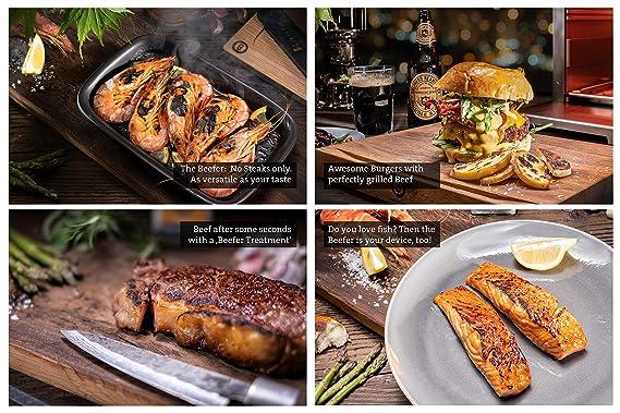 Amazon.com: The Beefer – Grill de 1.500 grados, 100% acero ...