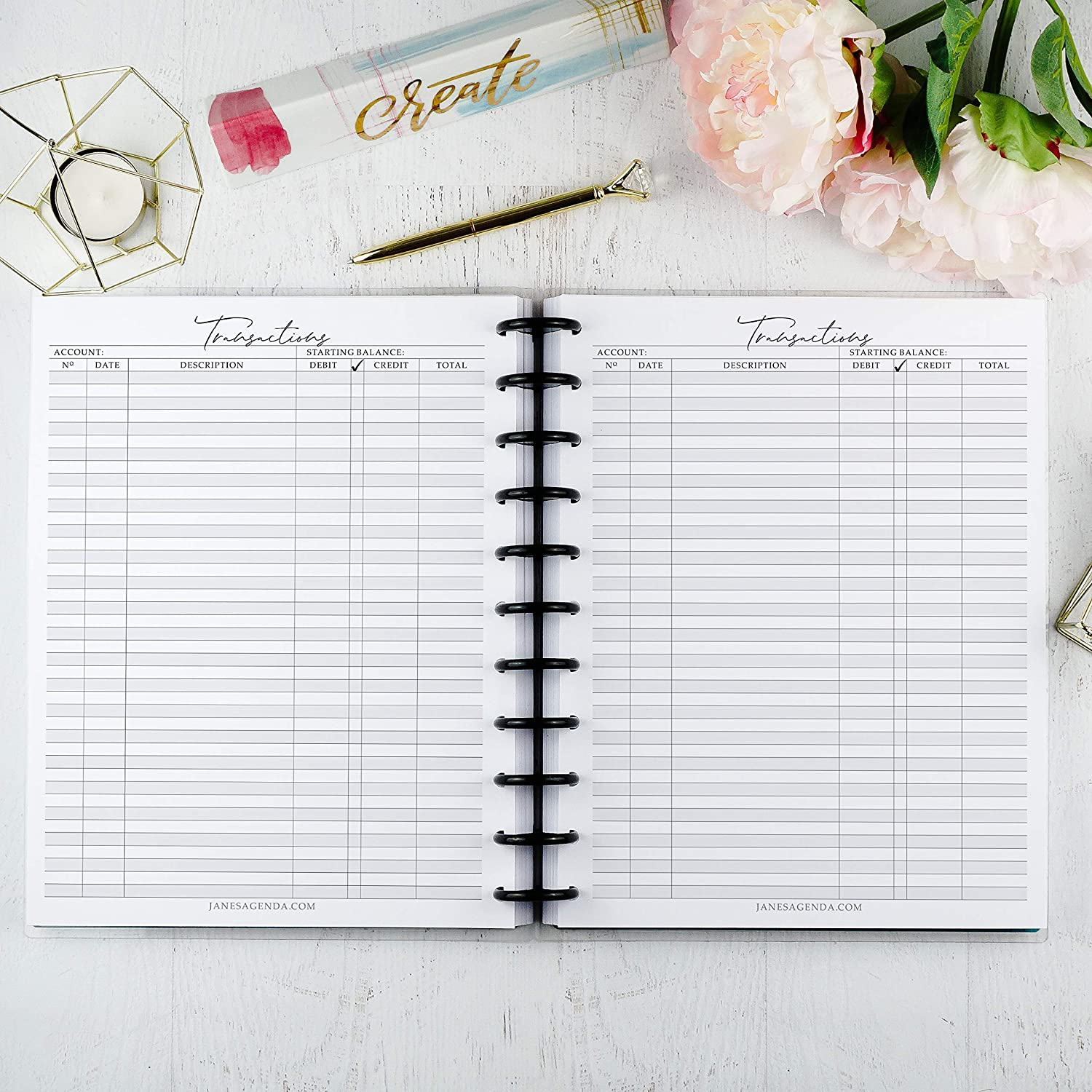 Budgeting Planner Inserts for use with Letter Discbound 8.50 x 11 inches Financial Set 11 Disc