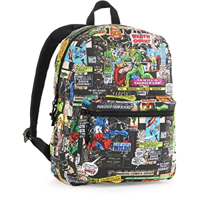 Marvel Comic Print Backpack Assorted Designs durable modeling