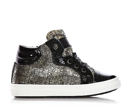 CIAO BIMBI - Sneaker nera e argentata stringata db95512717d