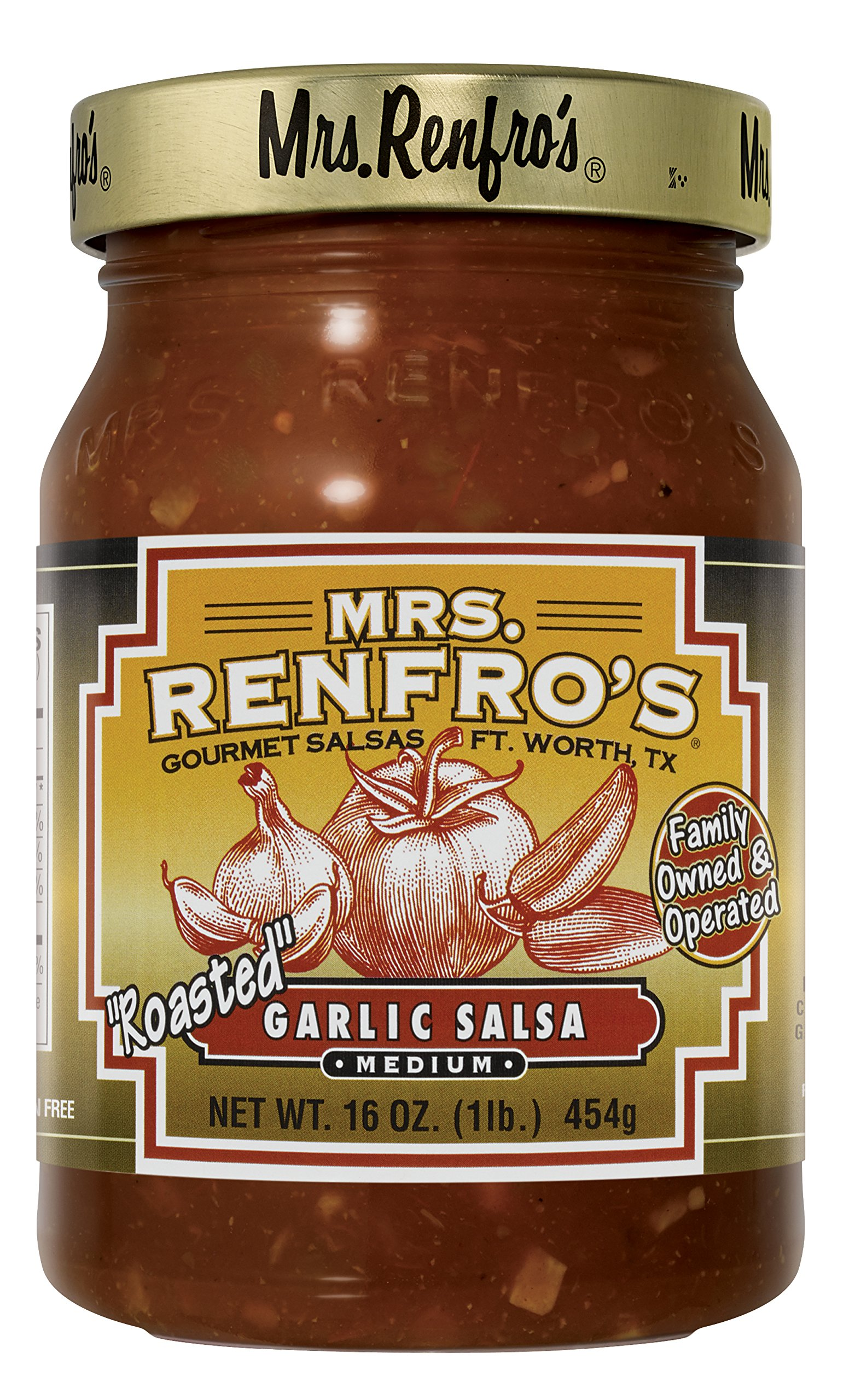 Mrs. Renfro's Garlic Salsa, 16 oz (4 Pack) by Mrs. Renfro's