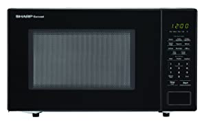 SHARP ZSMC1131CB Carousel 1.1 Cu. Ft. 1000W Countertop Microwave Oven in Black (ISTA 6 Packaging), Cubic Foot, 1000 Watts