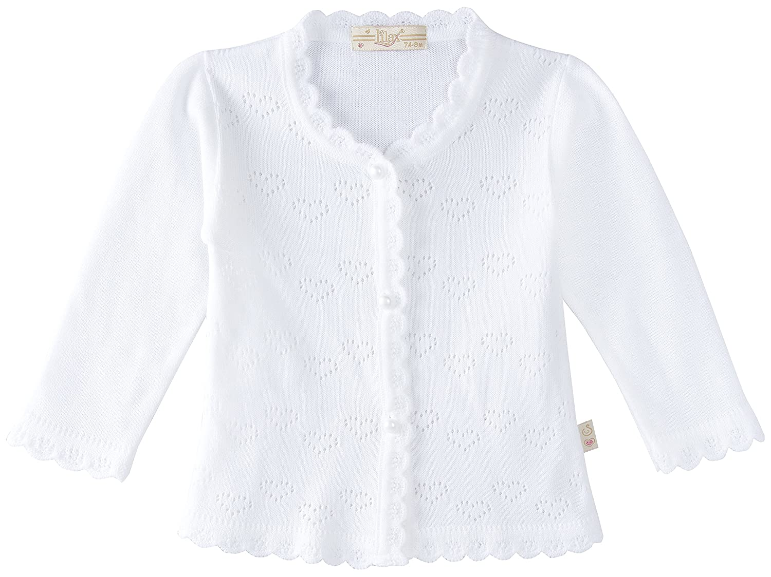 Lilax Baby Girls' Little Hearts Knit Cardigan Sweater 1075