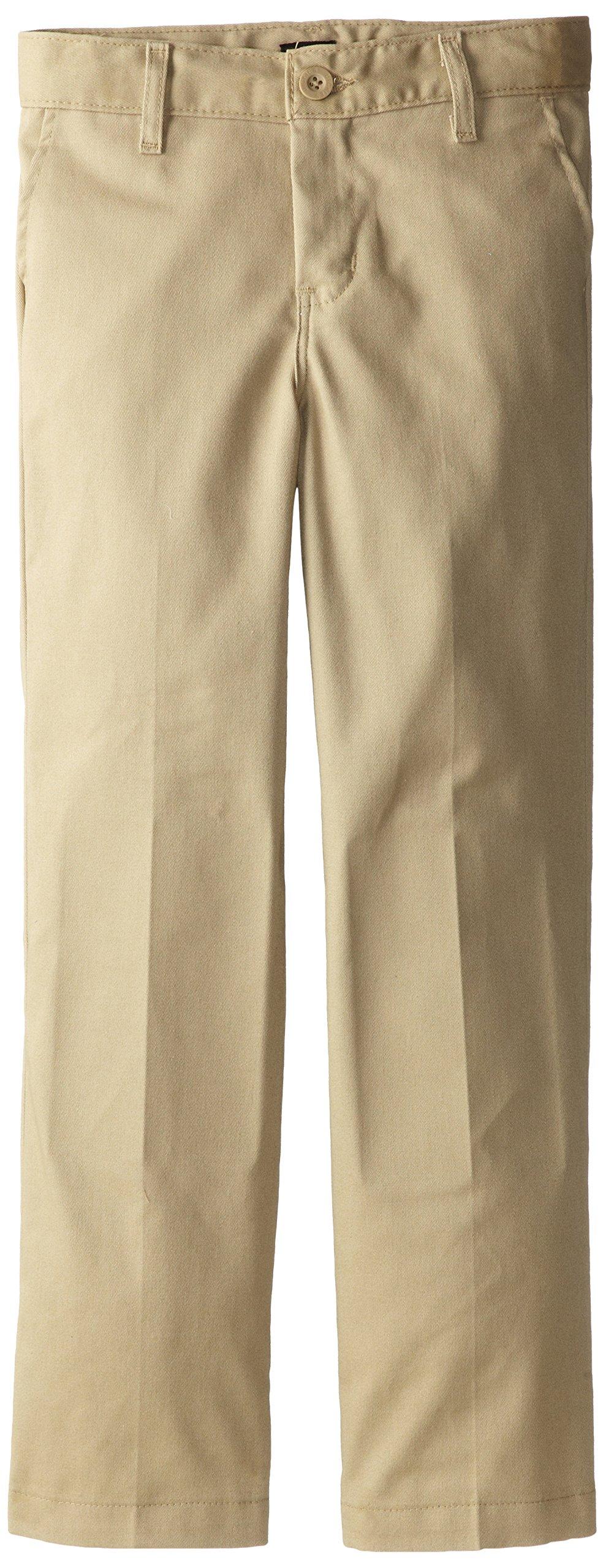 Dickies Khaki Little Boys' Flex Waist Stretch Pant, Desert Sand, 4 Regular