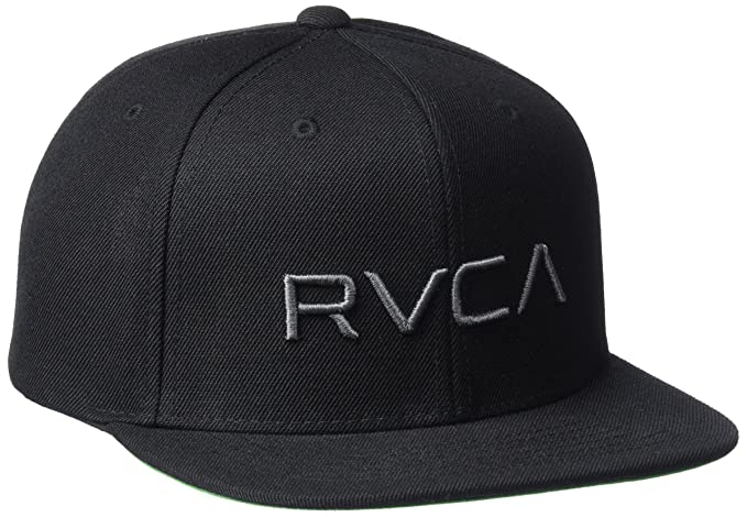 71a5ded4 Amazon.com: RVCA Boys' Big Twill Snapback HAT, Black/Charcoal, One ...