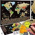 W WANDERLUST MAPS Mapa świata do zdrapywania + bonus mapa Europy Deluxe Kompletny zestaw z wszystkimi akcesoriami i flagami narodowymi. Idealny prezent dla wszystkich miłośników podróży.