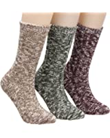 Galsang Super Thick Warm Comfort Knit Crew Winter Socks For Women 3 packs Size 5-11 A155