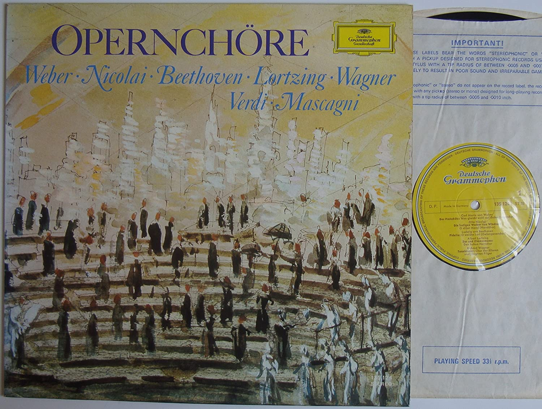 Various Opernchore 12 Lp 1968 Deutsche Grammophon 135 124