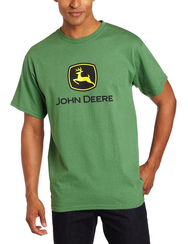 Yustery John Deere Mens Trademark Logo Core Short Sleeve Tee