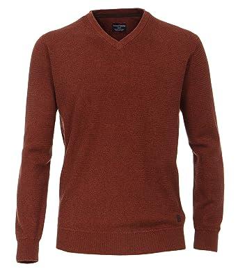 Casa Moda - Herren Pullover mit V-Ausschnitt in Melange Optik (462521200),
