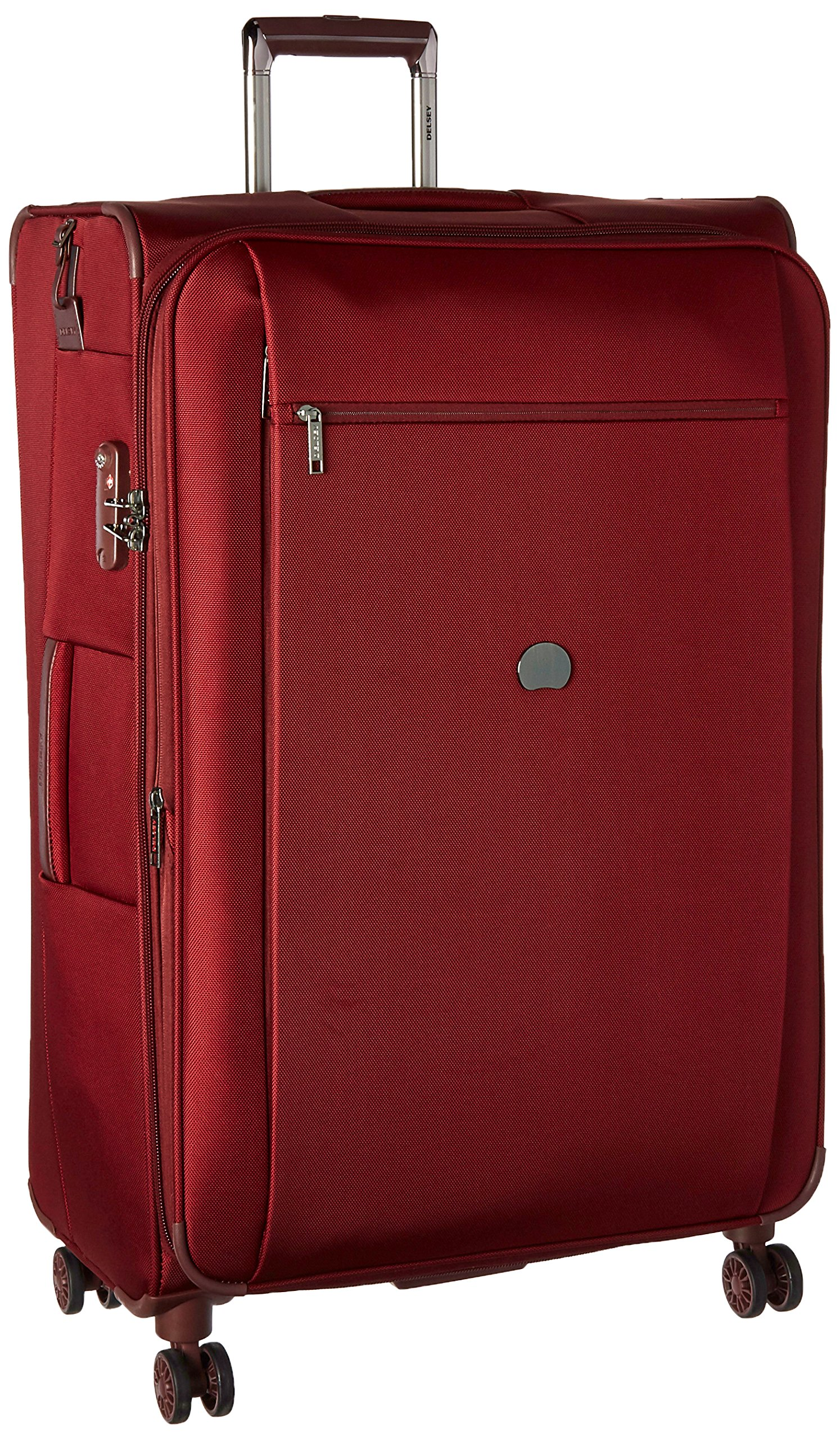 Delsey Luggage Montmartre+ 29 Inch Expandable Spinner Suitcase, Bordeaux
