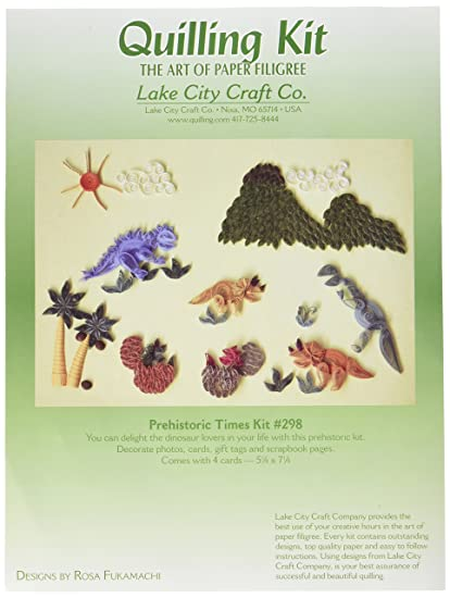 Amazon Com Lake City Craft Q298 Quilling Kit Prehistoric Times
