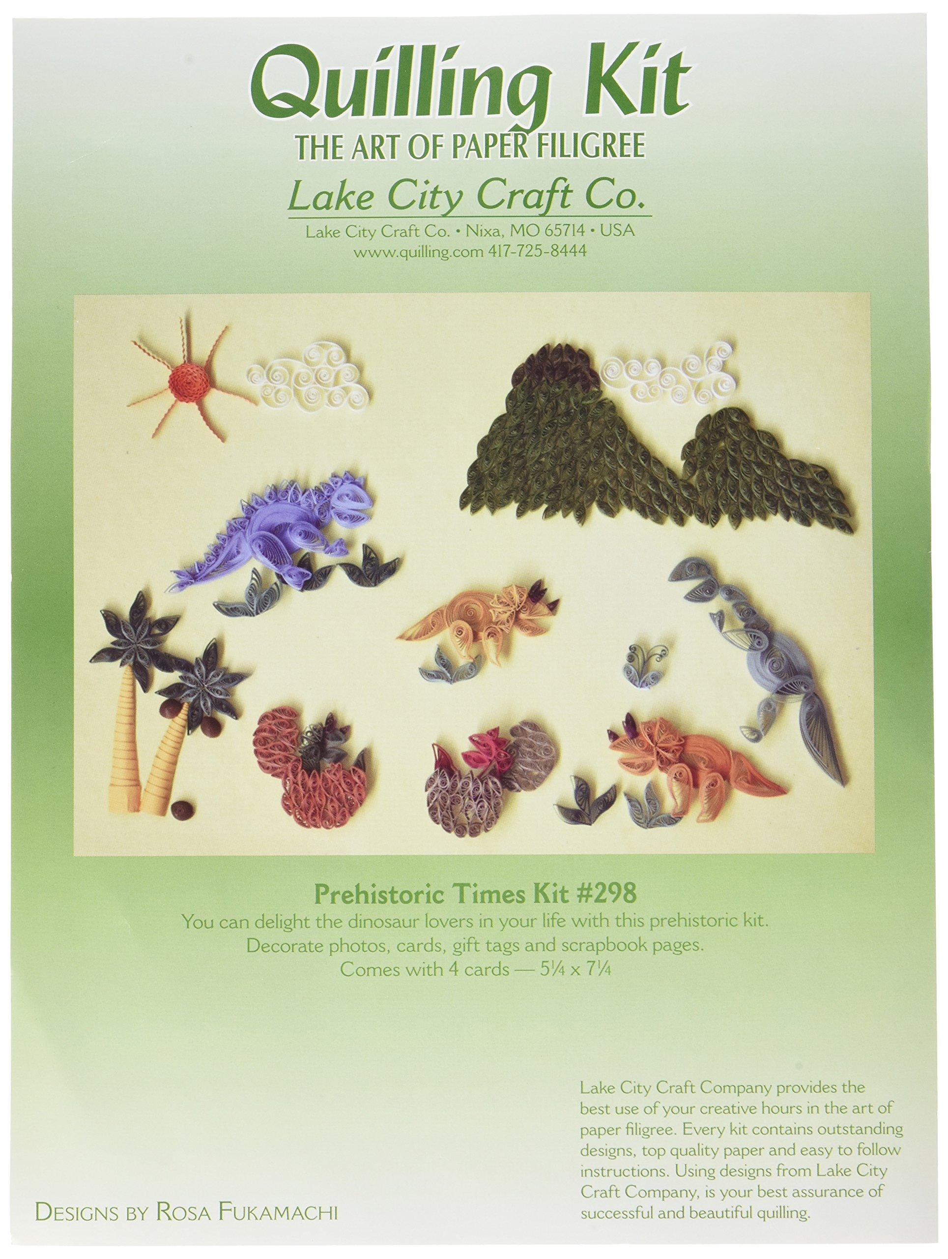 LAKE CITY CRAFT Q298 Quilling Kit, Prehistoric Times